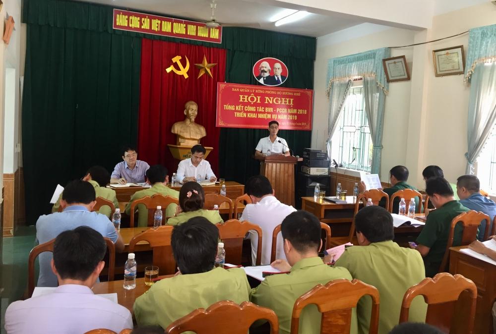 Ban quản lý rừng phòng hộ Hương khê  triển khai nhiệm vụ BVR-PCCCR năm 2019.