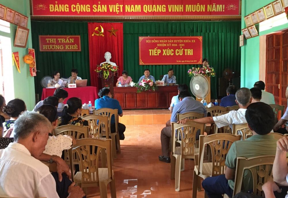Chủ tịch UBND huyện tiếp xúc cử tri TDP 1- Thị trấn