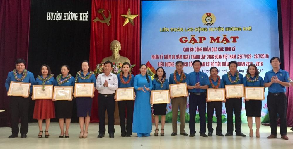 Hương Khê biểu dương 10 chủ tịch công đoàn cơ sở tiêu biểu