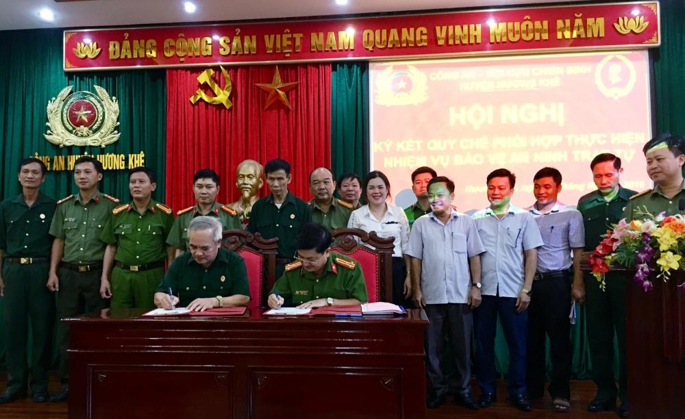 Công an- Hội Cựu chiến binh huyện  ký kết chương trình phối hợp bảo đảm ANTT trên địa bàn