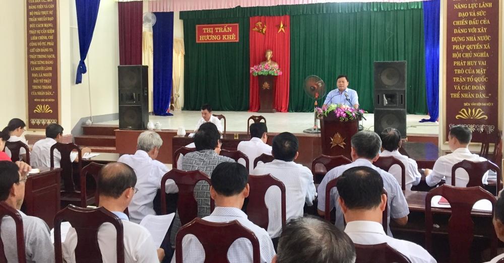 Đảng ủy Thị trấn đánh giá kết qủa thực hiện nhiệm vụ chính trị 9  tháng đầu năm, nhiệm vụ giải pháp 3 tháng cuối năm