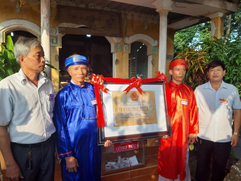 Điện Đông được xếp hạng di tích lịnh sử văn hóa cấp tỉnh