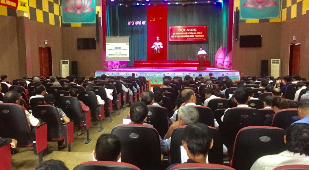 Hương Khê: Tập huấn pháp luật về hòa giải ở cơ sở,  Luật Tố cáo và Luật Phòng chống tham nhũng năm 2018