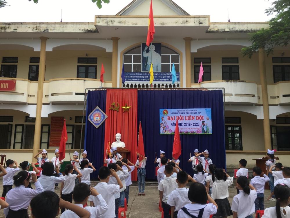 Đại hội Liên đội Trường Tiểu học Lộc Yên năm học 2019 - 2020