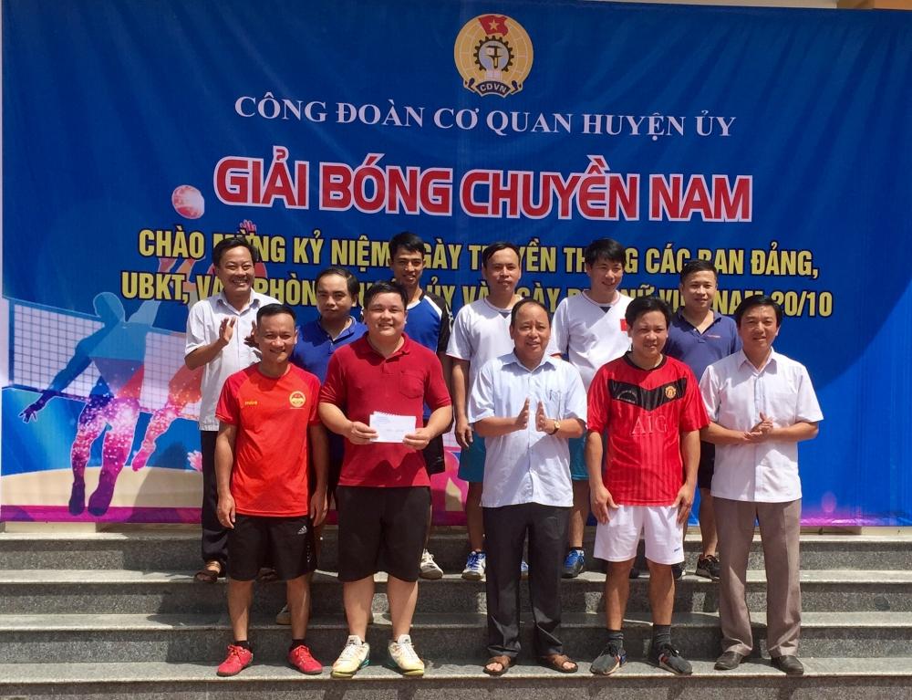 Công đoàn Cơ quan Huyện ủy tổ chức giải bóng chuyền Kỷ niệm ngày thành lập các Ban xây dựng Đảng.