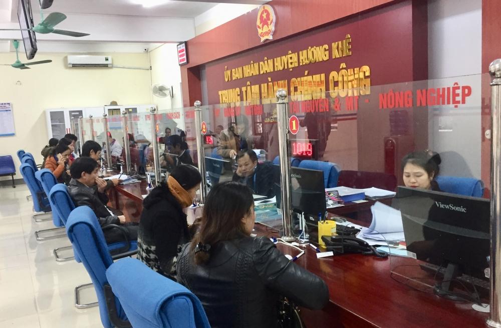 Chuyển biến tích cực về cải cách thủ tục Hành chính ở huyện Hương Khê sau khi Trung tâm Hành chính công đi vào hoạt động