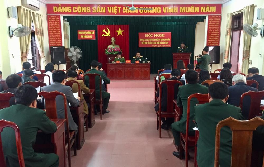 Hội đồng nghĩa vụ Quân sự huyện triển khai kế hoạch tổ chức lễ giao nhận quân năm 2020