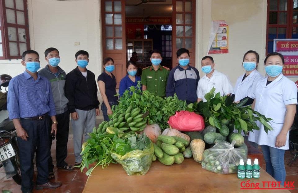 Hội Nông dân Hương Khê tham gia phòng chống dịch Covid-19