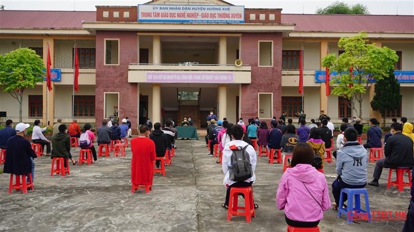 Hương Khê: bàn giao 72 công dân  về cho  18 địa phương tỉnh, thành quản lý