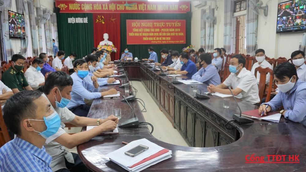 Hội nghị trực tuyến về tổng kết công tác bảo vệ rừng, phòng cháy chữa cháy rừng; triển khai đề án sản xuất vụ hè thu 2020