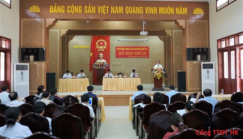 HĐND huyện khóa XX kỳ họp thứ 12 ( Kỳ họp bất thường)