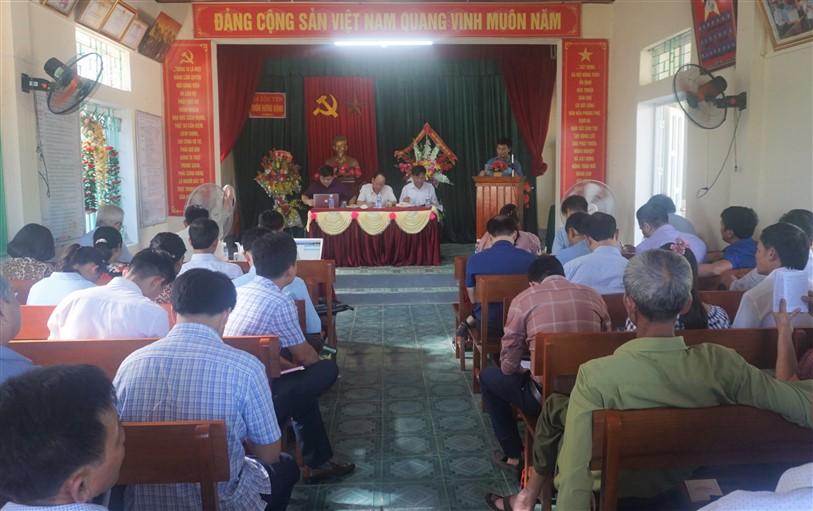 Ban Chỉ đạo Chương trình XDNTM, đô thị văn minh, giảm nghèo bền vững, OCOP huyện tổ chức làm việc với Cán bộ cốt cán xã Lộc Yên