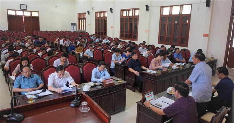 Hương Khê:  Đánh giá thực hiện chương trình xây dựng Nông thôn mới  6 tháng đầu năm, triển khai nhiệm vụ thời gian tới.