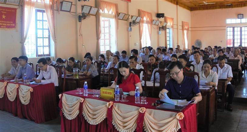 Chủ tịch UBND huyện, chỉ đạo một số nhiệm vụ trọng tâm 6 tháng cuối năm của Đảng bộ xã Hương Vĩnh