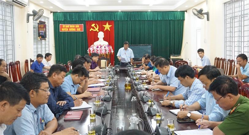 Huyện Hương Khê: Triển khai công tác ứng phó với Bão số 2