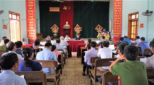Hương Bình cần quyết liệt hơn trong việc hoàn thành các tiêu chí xây dựng xã đạt chuẩn NTM vào cuối năm nay.