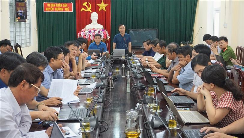 UBND huyện đánh giá tình hình KT-XH tháng 8, triển khai nhiệm vụ tháng 9 năm 2020