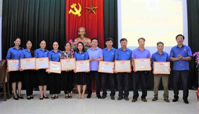 LĐLĐ huyện: Tổng kết hoạt động công đoàn năm học 2019-2020, triển khai nhiệm vụ năm học 2020-2021