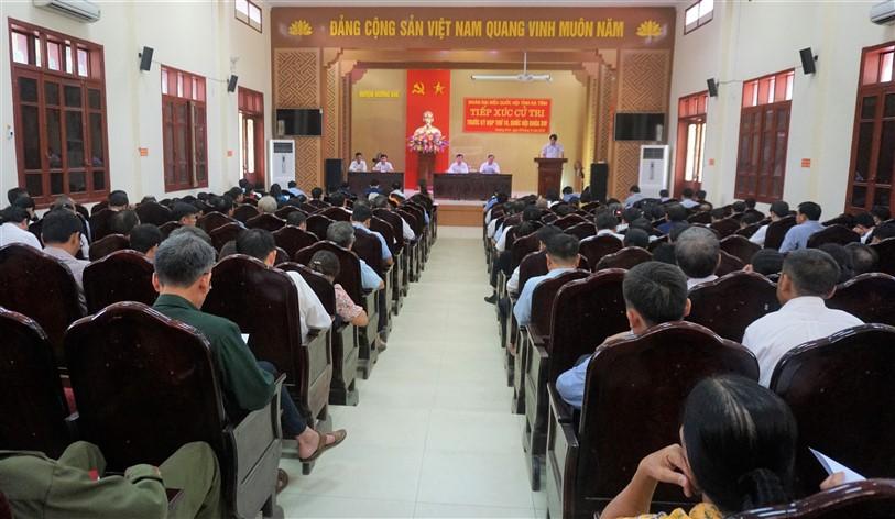 Đoàn Đại biểu QH tỉnh, Tiếp xúc cử tri Hương Khê trước kỳ họp thứ 10