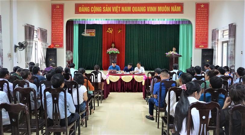 Ban Chỉ đạo XD NTM huyện làm việc với xã Lộc Yên.