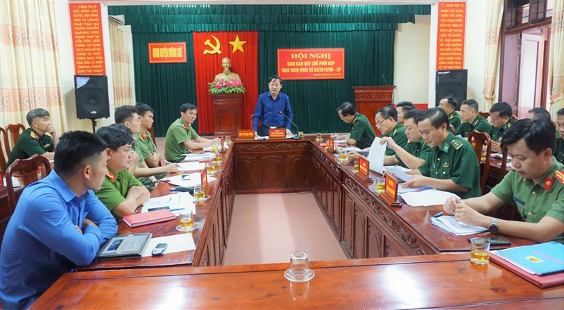 Sơ kết công tác phối hợp giữa 3 lực lượng theo Nghị định 03 Chính Phủ