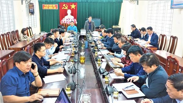 UBND huyện họp đánh  giá Tình hình KT-XH, QP-AN 10 tháng đầu năm;  mục tiêu, nhiệm vụ và giải pháp những tháng cuối năm 2020