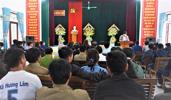 Hương Lâm: Cần chú trọng công tác xây dựng hệ thống chính trị, gắn với phát triển kinh tế - xã hội ở địa phương