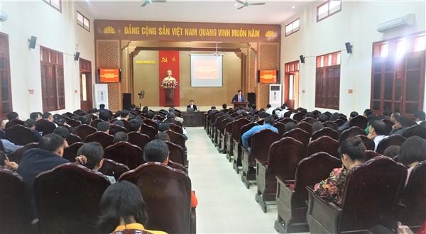 Đảng ủy cơ quan UBND huyện, thông báo kết quả  Đại hội đại biểu Đảng bộ tỉnh Hà Tĩnh khóa XIX nhiệm kỳ 2020 – 2025