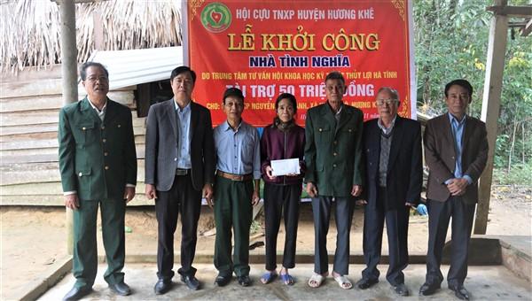 Khởi công nâng cấp nhà tình nghĩa cho Cựu thanh niên xung phong ở Hương Đô