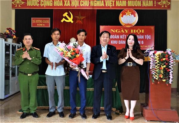 Chủ tịch UBND huyện dự ngày hội Đại đoàn kết tại thôn 6, Hương Giang