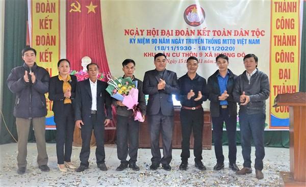 Thôn 9, xã Hương Đô tổ chức ngày hội đại đoàn kết toàn dân tộc.