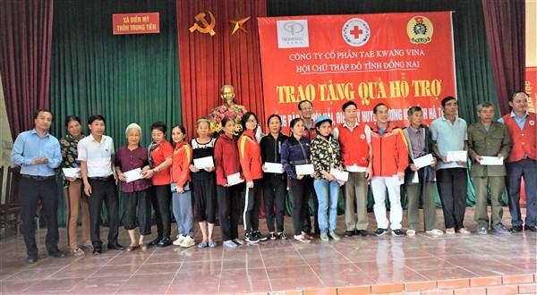 Hội Chữ thập đỏ Đồng Nai trao hơn 430 triệu đồng cho người dân vùng lũ Hương Khê