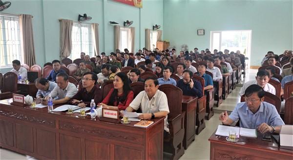 Đại biểu Quốc hội, HĐND tỉnh tiếp xúc cử tri Hương Khê.