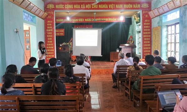 Hội làm vườn và Trang trại Hà Tĩnh tập huấn xây dựng vườn mẫu ứng phó với biến đổi khí hậu cho 80 hộ dân ở Hương Khê