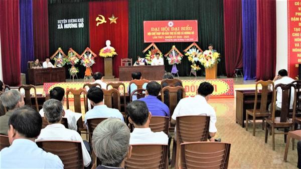 Đại hội đại biểu Hội Chữ thập đỏ- Bảo trợ xã hội xã Hương Đô nhiệm kỳ 2020-2025.