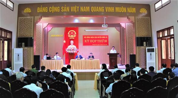 Kỳ họp chuyên đề thứ 16 HĐND huyện Hương Khê.