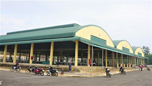Trên 800 ki ốt đã được các tiểu thương đăng ký thuê tại chợ mới huyện Hương Khê