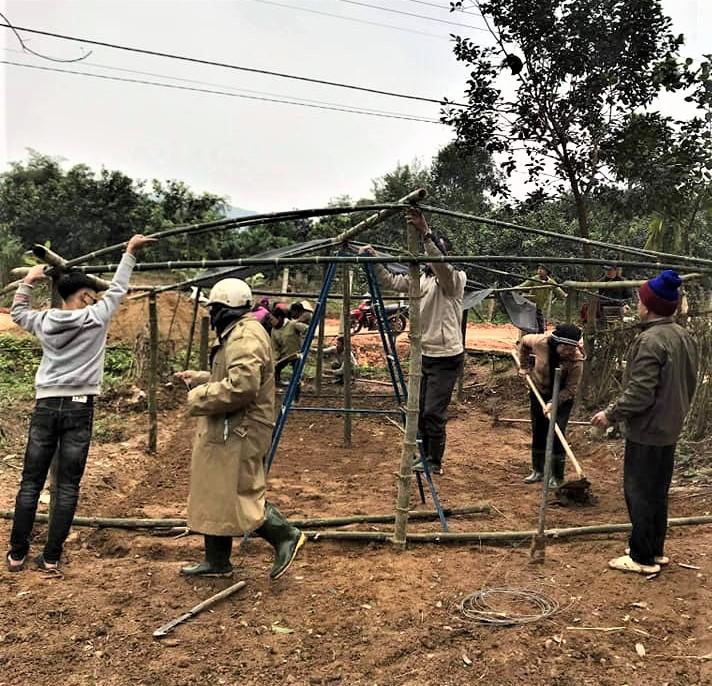 Hội Nông dân xã Hương Thủy xây dựng vườn ươm cây giống trồng hàng rào xanh, xây dựng nông thôn mới