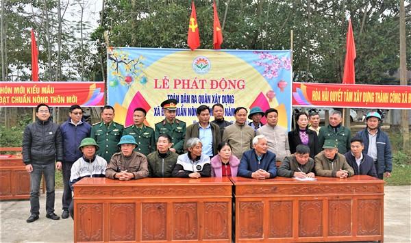 Hòa Hải phát động ra quân xây dựng xã đạt chuẩn Nông thôn mới