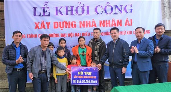 Hỗ trợ 50 triệu đồng xây nhà nhân ái ở xã Hương Lâm