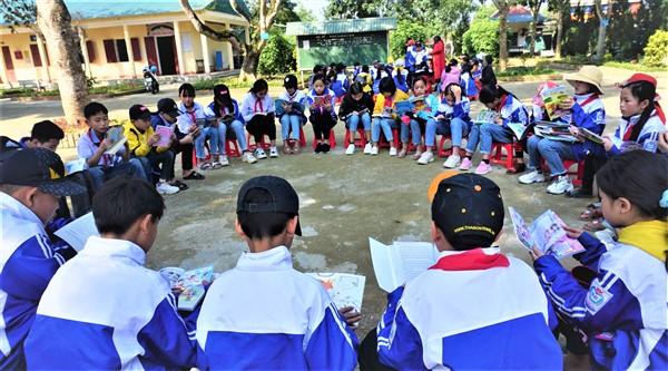Thư viện tỉnh tổ chức Ngày hội văn hóa đọc tại trường THCS Chu Văn An.