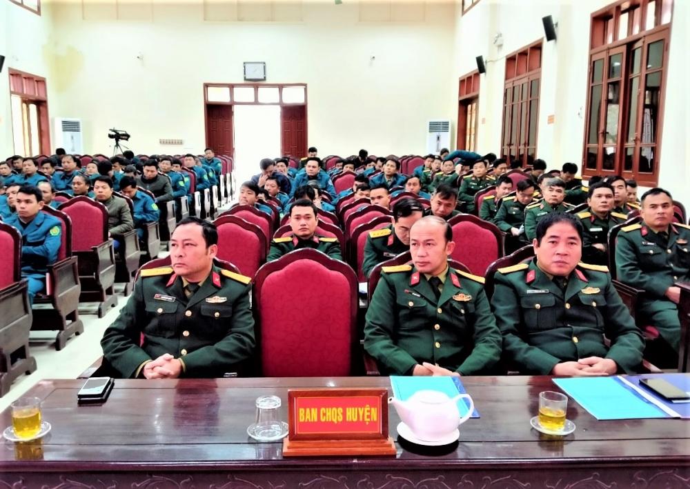 Ban Chỉ huy Quân sự huyện Hương Khê tập huấn cán bộ năm 2021