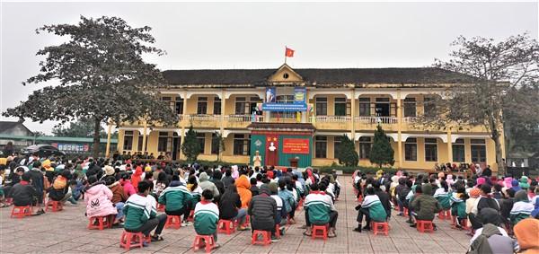 Công an Hương Khê tăng cường công tác phối hợp  tuyên truyền pháp luật