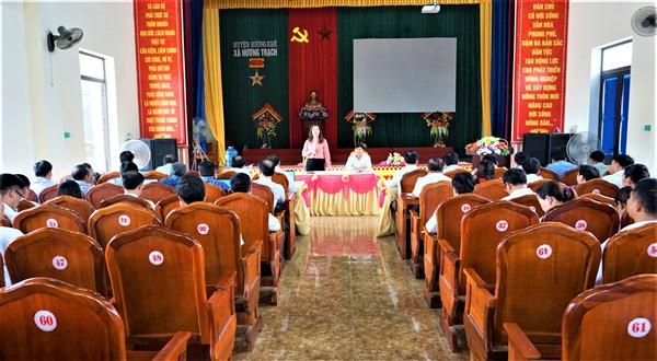 Hương Trạch quyết liệt đưa xã đạt NTM nâng cao vào cuối năm 2021