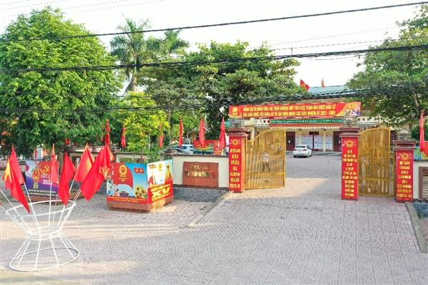 Hương Khê: Sẵn sàng cho ngày bầu cử gắn với tăng cường các biện pháp phòng dịch Covid- 19
