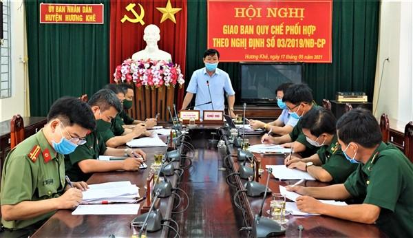 Thực hiện tốt quy chế phối hợp giữa ba lực lượng theo Nghị định số 03/2019/NĐ-CP của Chính phủ