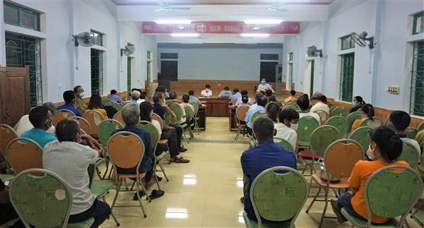 Bí Thư Huyện ủy làm việc với Phúc Đồng về công tác bầu cử đại biểu QH khóa XV và đại biểu HĐND các cấp nhiệm kỳ 2021-2026