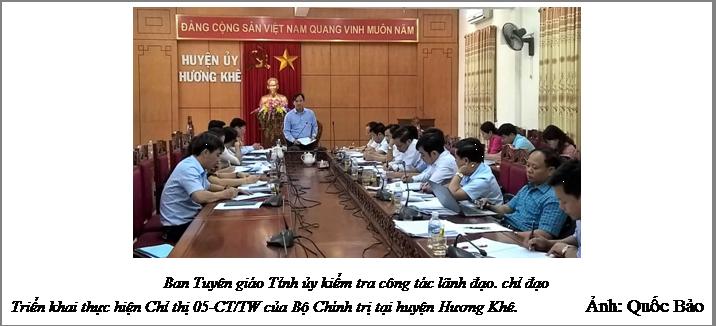 Hương Khê: Những chuyển biến tích cực sau 2 năm thực hiện chỉ thị 05 của Bộ Chính trị