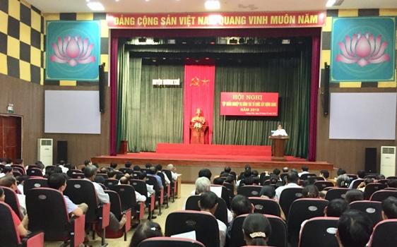 Huyện Ủy Hương khê: Tập huấn nghiệp vụ công tác xây dựng Đảng năm 2018