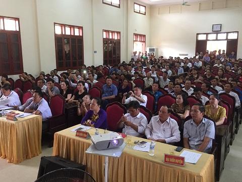 Đội tuyển Đảng bộ Trường THPT Hương khê giành giải nhất, hội thi cán bộ kiểm tra cơ sở giỏi toàn huyện năm 2018.